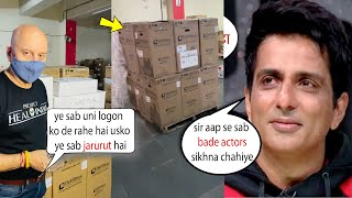 Aur Ek Sonu Sood in Bollywood Anupam Kher Imports Ventilators & Oxygen From New York To Help people????