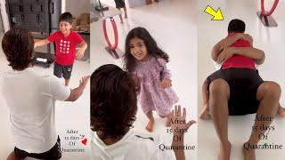 Allu Arjun finally Reunites with kids after testing Negative! shares emotional video.