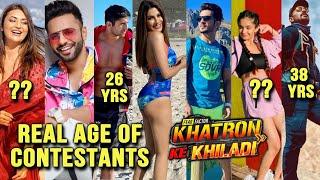 Khatron Ke Khiladi 11 REAL Age Of Contestants | Rahul, Divyanka, Anushka, Nikki, Arjun, Abhinav