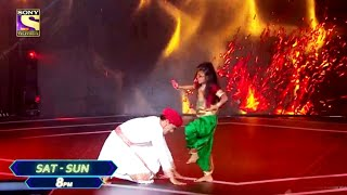 Super Dancer 4 | Super Guru Aryan Patra Aur Anshika Ka Performance, Taanaji Song, Standing Ovation