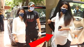 Harbhajan Singh & Pregnant Geeta Basra With BABY BUMP Spotted At Clinic In Bandra