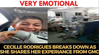 #VeryEmotional | Cecille Rodrigues breaks down as she shares her experience from GMC