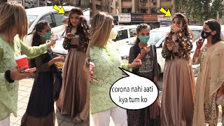 Mask hai ya chidiya ki udd gaya????????? Rakhi Sawant takes Class of College girls for not wearing a mask