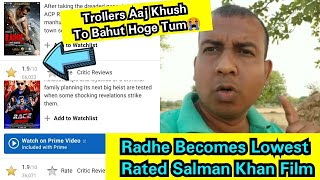 Radhe Becomes Lowest Rated Salman Khan Film By Beating Race 3, Top 5 Lowest Rated Salman Khan Films
