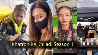 Rahul vaidya and Divyanka Tripathi Masti at Khatron Ke Khiladi set | Anushka Sen #KKK11