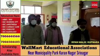 District President BJP Kupwara Meer Mohammad shafi visits District Hospital Handwara