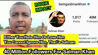 Radhe Impact: Salman Khan Crosses 40 Million Followers On Instagram, Another Massive Achievement