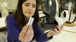 Self-defence is in vogue for tear-gas heels designer