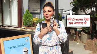 Meine Dream Dekha Mumbai Aajad Thi..., Rakhi Sawant Spotted Starbucks Lokhandwala