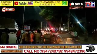 CAR HIT POLICE VEHICLE CHECKING BARACADES  FALAKNUMA POLICE IMMEDIATELY CAUGHT CAR WITH DRIVER