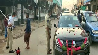 Lockdown Mein Shaadi | Dulha Aur Dulhan Ki Car Ko Police Ne Rok Liya | Check Post Mailardevpally |