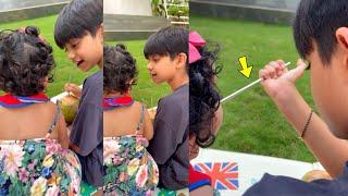 Shilpa Shetty Son Viaan Kundra Feeding Coconut Water To Baby Samisha Shetty | Brother And Sister????????