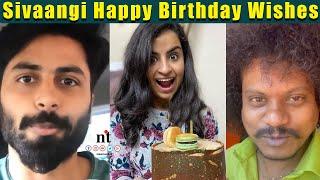 Sivaangi Birthday Celebration ???? - Ashwin's & Pugazh Special Birthday Wishes