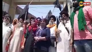 Singhu Border Black Day, संयुक्त किसान मोर्चा कार्यालय के आगे किसानों की नारेबाजी शुरू
