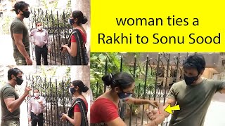 Miracle man Sonu Sood ???????? Women ties a Rakhi to Sonu Sood For Helping Her , Very Emotional????