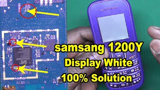 samsung e1200y white display New Method - 1200y white display - how to repair e1200y white display