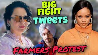 Rihanna Vs Kangana Ranaut On Farmers Protest | Rihanna Tweets On Farmers Protest | Kangana Vs Diljit