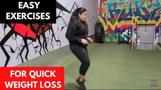 Easy Exercises TO LOSE WEIGHT FAST! BBRT#117 (Hindi / Punjabi)