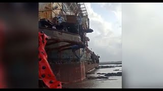 Maharashtra: Oil leakage reported around cyclone-affected barge off Palghar coast