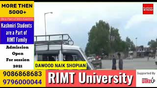 Partial Life Resumes at Shopian, The shops passenger Vehicles remains functioning on Roads.