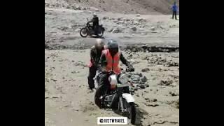Leh Ladakh Bike Trip River Crossing 2019 |  JustWravel
