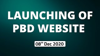 Launching of PBD Website (08th December 2020)