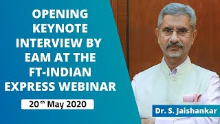 Opening keynote interview by EAM at the FT-Indian Express webinar