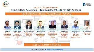 FICCI – KAS Webinar on Atmanirbhar Rajasthan