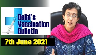 Delhi's Vaccination Bulletin 29 - 7th June 2021 - By AAP Leader Atishi #VaccinationInDelhi