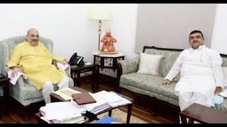 Suvendu Adhikari meets HM Amit Shah amid reports of post-poll violence in Bengal