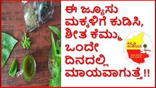 ಮಕ್ಕಳ ಶೀತ ಕೆಮ್ಮು ಕಡಿಮೆ ಮಾಡುವ ಧಿವ್ಯಔಷಧ | How to cure Cold Cough in Children | Kannada Sanjeevani