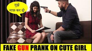 Fake GUN Prank on Cute Girl | Pranks in India 2020 | Unglibaaz
