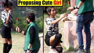 PROPOSING CUTE GIRL PRANK | Pranks in India 2021 | Unglibaaz