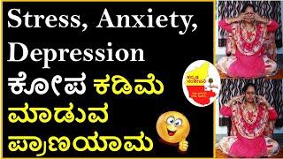 Bhramari Pranayama(Humming Bee Breath) How to do Bhramari Pranayama in Kannada   Kananda Sanjeevani