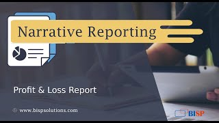Oracle Narrative Reporting P&L Report   Oracle Narrative Reporting Tutorial   P&L Report with Oracle
