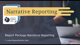 Report Package Narrative Reporting   Oracle Narrative Reporting    Narrative Reporting BISP