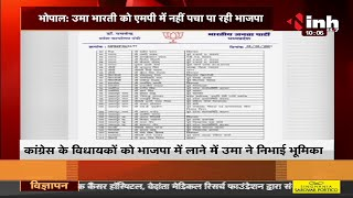 BJP Madhya Pradesh News || Uma Bharti की सक्रियता के बाद भी कार्यसमिति में नहीं मिली जगह