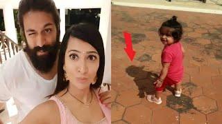When Ayra was just learning to walk ( her shadow)????❤️    Radhika Pandit   Yash   Ayra Yash