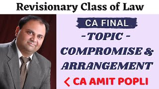 Revisionary Class of Compromise & Arrangement | Corporate Law | CA Final Law by CA Amit Popli