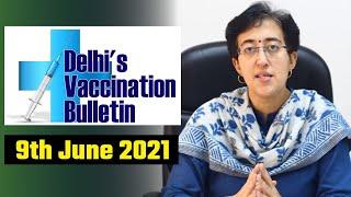 Delhi's Vaccination Bulletin 31 - 9th June 2021 - By AAP Leader Atishi #VaccinationInDelhi