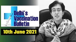 Delhi's Vaccination Bulletin 32 - 10th June 2021 - By AAP Leader Atishi #VaccinationInDelhi