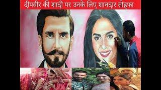 marriage gift for #ranveer singh   #deepika padukone   painting   #marriage   gift