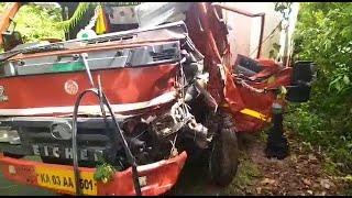 Dangerous turn on Canacona Mashem HW, Major Tragedy Averted