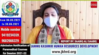 DC Ganderbal Krittika Jyotsna today briefed the media on the current Covid scenario.