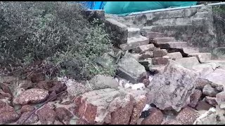 Approach steps to Sernabatim Beach collapsed!