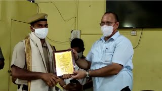 Fire fighters felicitated for the service rendered during Tauktae cyclone