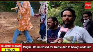 Mughal Road closed for traffic due to heavy landslide