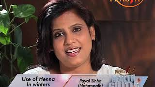 How to use Hena on hair tips by Payal Sinha https://beingpostiv.com/
