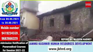 House gutted in fire at Surankote area of Poonch District.