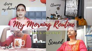 Indian Housewife Morning Routine - Scared , Tan Removal Skincare & More  Nidhi Katiyar